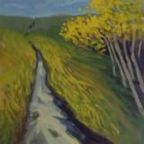 "PathwaysAcrylic on birch panel8""x8""2020$150"