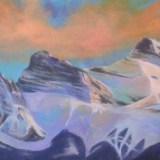 "Three Sisters GlowAcrylic on canvas10""x20""2015Sold"
